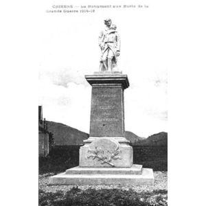 Chirens le monument aux mort de la grande guerre 1914-18
