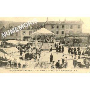 St-Geoire-en-Valdaine la place et les fêtes du 9 juillet 1922 AM