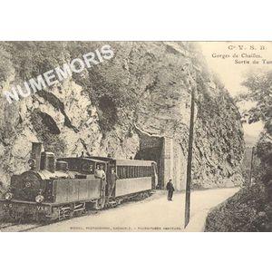 Gorges de Chailles sortie du tunnel