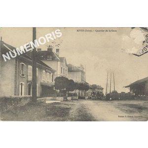 Rives (Isère) quartier de la Gare