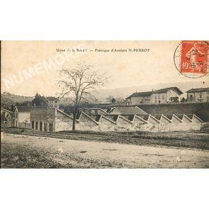 usine de la Raze Fabrique d'Antésite N. Perrot