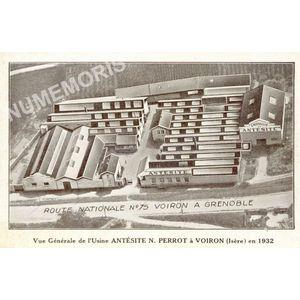Vue générale de l'Usine Antésite N. Perrot à Voiron (Isère) en 1932