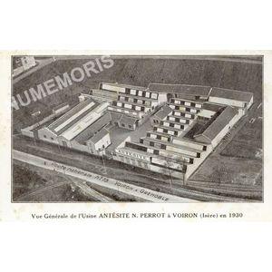 Vue générale de l'Usine Antésite N. Perrot à Voiron (Isère) en 1930