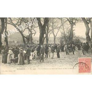 JG 243 Voiron 1er mai 1906 une conférence aux grévistes réunis au bois de Monteuil