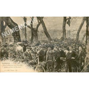 JG 244 Voiron 1er mai 1906 une conférence aux grévistes réunis au bois de Monteuil