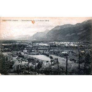 Voreppe (Isère) inondation juillet-Aout 1914