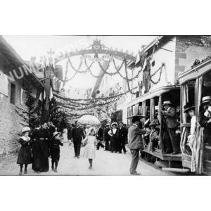 Voreppe juin 1909 arrivée du tramway