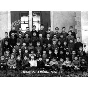 Chirens école en 1954-55 garçons  (petits)