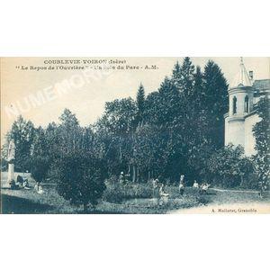 """Coublevie-Voiron (Isère) """"le Repos de l'ouvrière"""" un coin du parc A.M."""