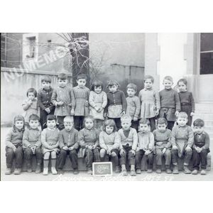 Voiron école rue Basse en 1958