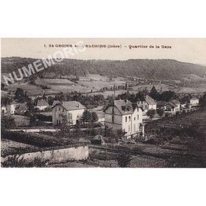 001 St-Geoire en Valdaine (Isère) quartier de la gare