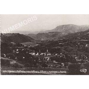 4750.1 St Geoire en Valdaine (Isère) collines de St-Franc et montagnes de Savoie
