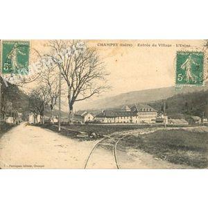 Champet (Isère) entrée du village l'usine