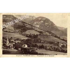Dauphiné Pommiers (Isère) vue générale et les Bannettes