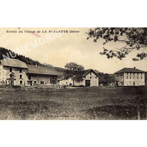 entrée du village de la Placette (Isère)