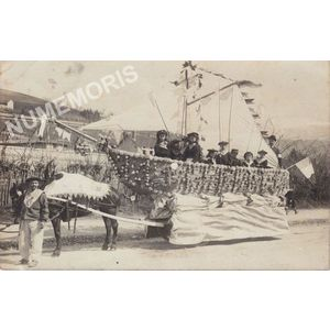 Voiron cavalcade 1908 char du bateau