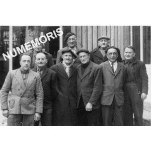 anciens combattants de la guerre 14-18 et 40-45 en 1965 de Pommiers la Placette