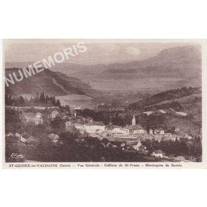 St-Geoire-en-Valdaine (Isère) vue générale collines de St-Franc montagnes de Savoie