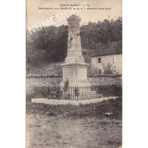 Saint-Aupre (Isère) monument aux morts de la Grande Guerre (1914-18)