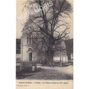 JG 009 Saint-Aupre l'église le tilleul datant du XVè siècle