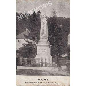 Saint-Aupre monument aux morts de la Grande Guerre