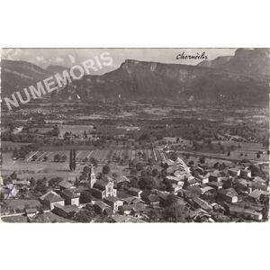 Charnècles (Isère) 21830 vue générale aérienne et Bec de l'Echaillon
