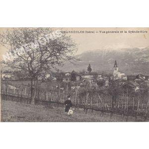 Charnècles (Isère) vue générale et la Grande Sure