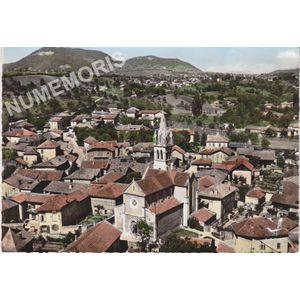 en avion au-dessus de... 1 Saint-Jean de Moirans (Isère) le Bourg