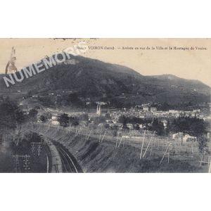 2662 Voiron (Isère) Arrivée en vue de la Ville et la Montagne de la Vouise
