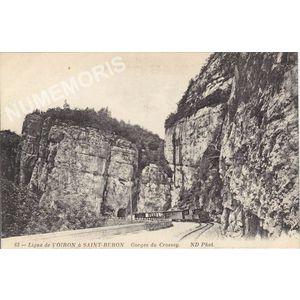 063 ligne de Voiron à Saint-Beron Gorges du Crossey