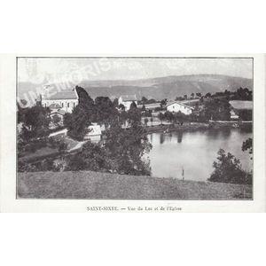 Saint-Sixte vue du lac et de l'église