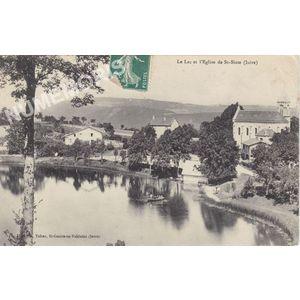 le lac et l'église de St-Sixte (Isère)
