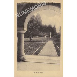 Coublevie (Isère) couvent des Dominicains vue sur le parc