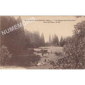 """Coublevie-Voiron (Isère) """"le repos de l'ouvrière"""" vue du Parc A. M."""