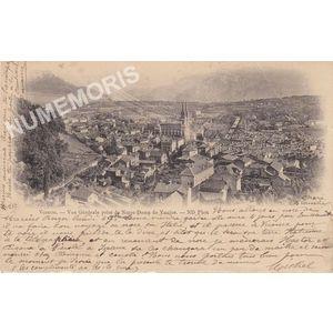 057 Voiron vue générale prise de Notre Dame de Vouise