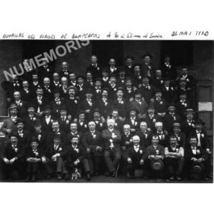 ouvriers des forges de Bonpertuis en 1890