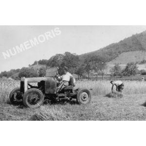 Chirens : moisson en 1948 à Clermont