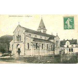 Chirens (Isère) l'église