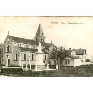 Chirens Eglise et monument aux Morts