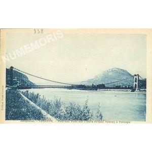 Dauphiné Voreppe nouveau pont sur l'isère reliant Veurey à Voreppe