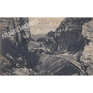 274 Dauphiné chemin de fer de Voiron à St-Laurent-du-Pont Gorges du Crossey ER