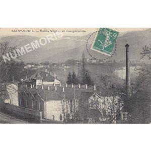 Saint-Bueil usine Mignot et vue générale