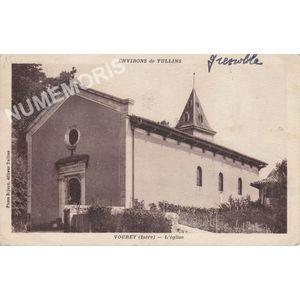 environs de Tullins Vourey (Isère) l'église