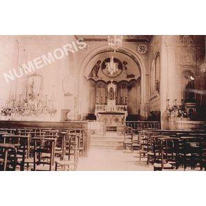 Vourey intérieur de l'église Saint Martin en 1900