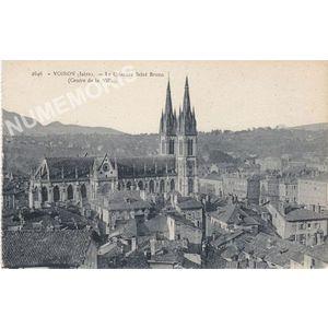2646 Voiron (Isère) le quartier Saint Bruno (centre de la ville)
