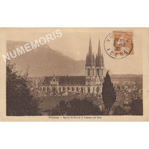 Voiron église St-Bruno et plateau de Ratz