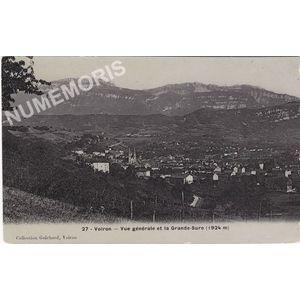 027 Voiron vue générale et la Grande-Sure (1924 m)