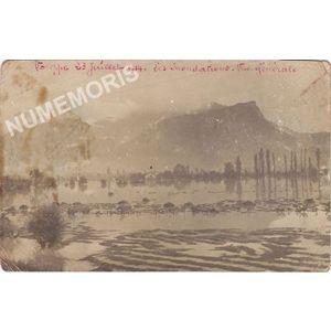 Voreppe 23 juillet 1914 les inondations vue générale