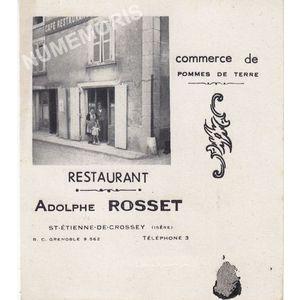 publicité du restaurant Rosset