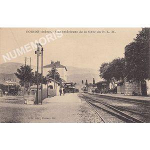GD 152 Voiron (Isère) vue intérieure de la Gare du P. L. M.